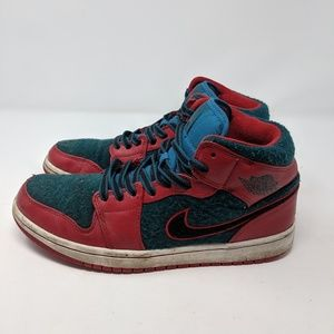 Nike Air Jordan 1 Mid 2013 GYM RED DARK SEA size 8